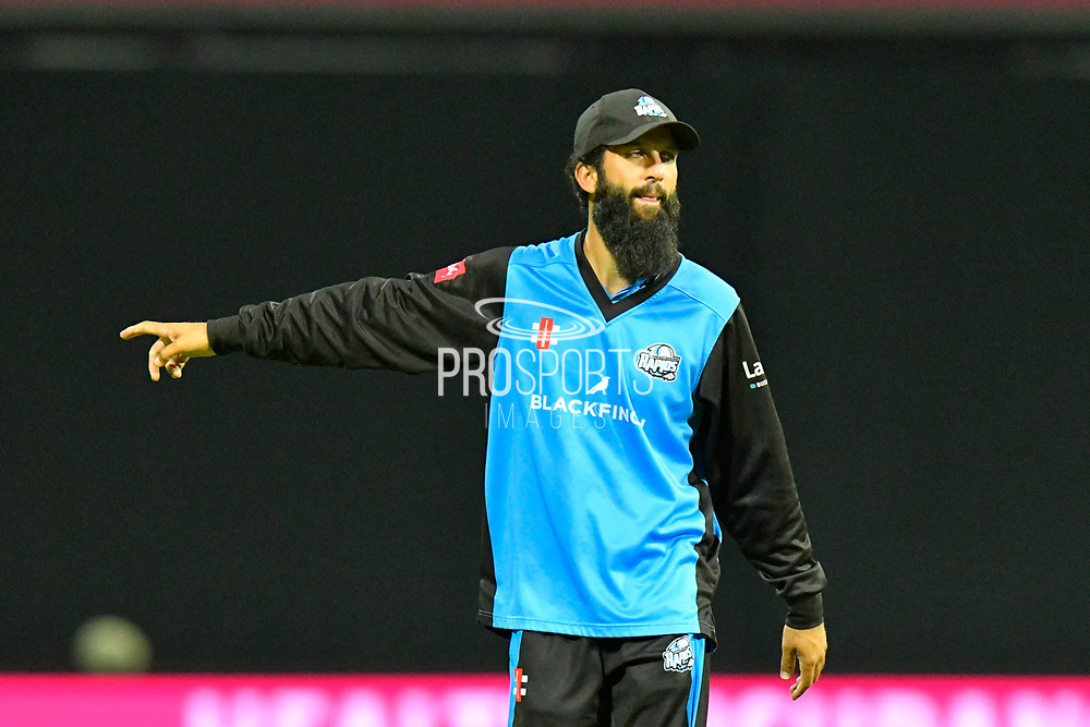 Moeen Ali of Worcestershire during the final of the Vitality T20 Finals Day 2018 match between Worcestershire Rapids and Sussex Sharks at Edgbaston, Birmingham, United Kingdom on 15 September 2018.