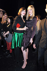 Left to right, JASMINE GUINNESS and JADE PARFITT at the afterparty sponsored by Swarovski following the Giles Deacon London Fashion Week Spring Summer 2009 fashion show during London Fashion Week, at The Old Sorting Office, 21-31 New Oxford Street, London  on 16th September 2008.