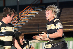 Robbie Louw of Boland celebrates after scoring a try during the Currie Cup premier division match between the Boland Cavaliers and The Pumas held at Boland Stadium, Wellington, South Africa on the 2nd September 2016<br /> <br /> Photo by:   Shaun Roy/ Real Time Images