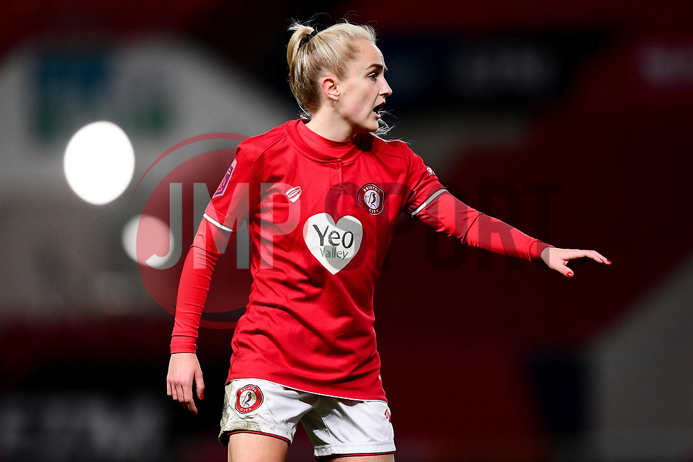 Faye Bryson of Bristol City - Mandatory by-line: Ryan Hiscott/JMP - 17/02/2020 - FOOTBALL - Ashton Gate Stadium - Bristol, England - Bristol City Women v Everton Women - Women's FA Cup fifth round