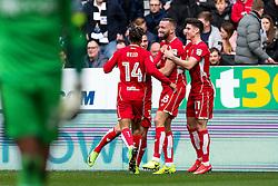 Aaron Wilbraham of Bristol City celebrates scoring a goal to make it 0-1 - Rogan Thomson/JMP - 25/02/2017 - FOOTBALL - St James' Park - Newcastle, England - Newcastle United v Bristol City - Sky Bet EFL Championship.