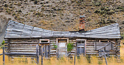 An old cabin sits abandon on the road to Stanley, Idaho.