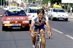 16 July 1993 - Cycling - Tour de France - Isola 2000 / Marseille<br /> Fabio Roscioli <br /> Photo: Presse Sports / Offside