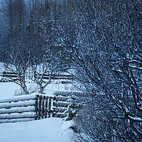 Winter storm in Iceland, December 24, 2013.