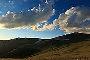 USA, Colorado, Rocky Mountain National Park, view from Forest Canyon Overlook