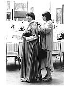 Iris Murdoch and Margaret Drabble© Copyright Photograph by Dafydd Jones 66 Stockwell Park Rd. London SW9 0DA Tel 020 7733 0108 www.dafjones.com