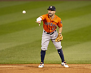 CHICAGO - AUGUST 13:  Jose Altuve #27 of the Houston Astros fields during the second game of a double header against the Chicago White Sox on August 13, 2019 at Guaranteed Rate Field in Chicago, Illinois.  (Photo by Ron Vesely/MLB Photos via Getty Images)  *** Local Caption *** Jose Altuve