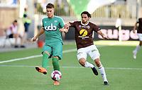Fotball , 26. juni 2018 , OBOS-ligaen , 1. divisjon , Mjøndalen - Nest-Sotra<br /> Ståle Sæthre , Nest Sotra<br /> <br />  Mahmoud Eid , MIF