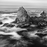 The Fallen Giant - Rocky Point - Big Sur, CA - Black & White