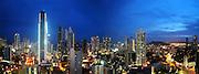 Panamá   Ciudad de Panamá.<br /> <br /> Panorámica de 2 fotografías.<br /> <br /> Edición de 10   Fine Art Panama.