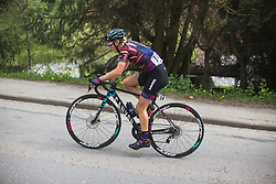 Pauline Ferrand-Prevot (FRA) of CANYON//SRAM Racing rides at the front on her own during Liege-Bastogne-Liege - a 136 km road race, between Bastogne and Ans on April 22, 2018, in Wallonia, Belgium. (Photo by Balint Hamvas/Velofocus.com)