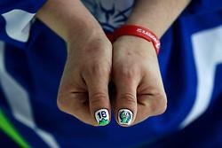 Tamara Lepir of Slovenia after ice hockey match between Slovenia and Poland in  2016 IIHF Women's World Championship Division II on April 2, 2016 in Sportna dvorana, Bled, Slovenia. Photo By Matic Klansek Velej / Sportida