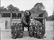 Pupils from Our Lady's Bower Convent, Athlone, Co. Westmeath visit Dublin Zoo, Phoenix Park, Ireland.<br />