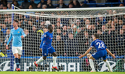 December 8, 2018 - London, Greater London, England - Ngolo Kanté of Chelsea celebrates scoring the opening goal during the Premier League match between Chelsea and Manchester City at Stamford Bridge, London, England on 8 December 2018. (Credit Image: © AFP7 via ZUMA Wire)