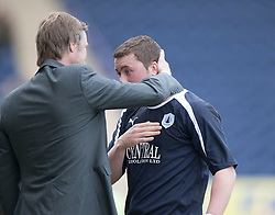 Falkirk's Tam Scobie subbed near the end..Falkirk 3 v 2 Ayr United, 5/5/2012..©Michael Schofield..