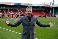 Gary Lineker during the The FA Cup match between Cheltenham Town and Dover Athletic at Whaddon Road, Cheltenham, England on 7 December 2014.