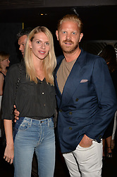 Alistair Guy and Barbora Bediova at the Quaglino's Q Legends Summer Launch Party hosted by Henry Conway at Quaglino's, 16 Bury Street, London England. 18 July 2017.