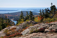 The Atlantic Ocean Seen From Cadillac Mountain, Acadia National Park, Maine, USA