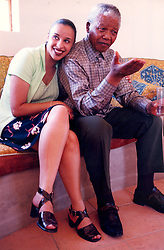 Nelson Mandela and granddaughter, Ms Rochelle Mtirara. Picture: Benny Gool.