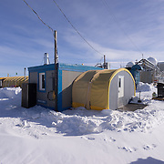 LDB galley and office space for NASA and other personnel. Unlike other field camps in Antarctica, LDB is close enough to McMurdo Station for personal to commute to the site each day rather than live on site.