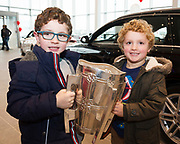 Hugh and Zach Boyd from Gort with The Liam McCarthy at Connolly Motor Group has opened its new state-of-the-art Audi Terminal Showrooms in Ballybrit, Galway. <br /> The finishing touches have been put to the ultra-modern dealership, increasing to 35 full-time jobs, bringing the number of full-time employees at the Connolly Motor Group to over  200 with 35 of those located in Galway.<br /> Work on the new €5 million state-of-the-art dealership began just before Christmas last year and opened on Tuesday October 31st.<br /> The new 'Audi Terminal' is just a stone's throw from Connollys' former Audi Galway dealership at the Briarhill Business Park, close to the Galway Racecourse in Ballybrit. <br /> Finished to the highest spec with the most up-to-date technology, the 23,000 sq. ft. car retail facility is based around Audi's newest design concept. <br /> It is one of the most modern facilities in the country and includes the most up-to-date technology for electric vehicles with multiple power points.<br />  Photo:Andrew Downes