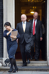 © licensed to London News Pictures. London, UK 08/10/2013. Baroness Warsi, William Hague and David Willetts attending to a cabinet meeting in Downing Street on Tuesday, 8 October 2013. Photo credit: Tolga Akmen/LNP
