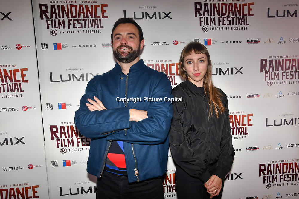 Director Gustavo Sanchez - I hate New York and Ana Quiroga soundtrack of LCC attend World Premiere of Team Khan - Raindance Film Festival 2018 at Vue Cinemas - Piccadilly, London, UK. 29 September 2018.