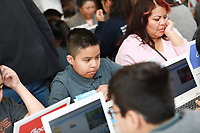 Google.org Announcement of MultiMillion Dollar Commitment, Grant and Pilot Program held at Camino Nuevo Charter Academy on March 19, 2019 in Los Angeles, California, United States (Photo by Jc Olivera/Google)
