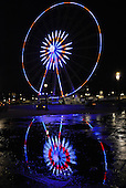 Great wheel of Paris in the colors of France