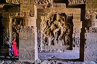 Inde, état de Maharashtra, Ellora, grottes d'Ellora classées au Patrimoine mondial de l'UNESCO, grotte N°14 // India, Maharashtra, Ellora cave temple, Unesco World Heritage, cave N°14