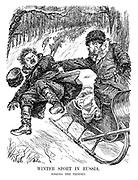 Winter Sport in Russia. Tossing the Trotsky.
