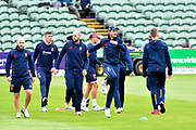 Ryan ten Doeschate of Essex warming up with his team mates ahead of the Specsavers County Champ Div 1 match between Somerset County Cricket Club and Essex County Cricket Club at the Cooper Associates County Ground, Taunton, United Kingdom on 26 September 2019.