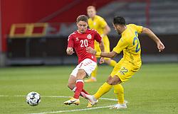 Magnus Kofod Andersen (Danmark) under U21 EM2021 Kvalifikationskampen mellem Danmark og Ukraine den 4. september 2020 på Aalborg Stadion (Foto: Claus Birch).