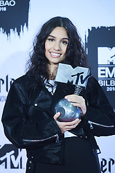 November 4, 2018 - Madrid, Madrid, Spain - Alesia Cara poses in the press room during the 25th MTV EMAs 2018 held at Bilbao Exhibition Centre 'BEC' on November 5, 2018 in Madrid, Spain (Credit Image: © Jack Abuin/ZUMA Wire)