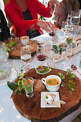 New Zealand, South Island, Nelson, food and wine pairings at Seifried Estate winery prepared by Chef Horst of Petite Fleur restaurant. Photo copyright Lee Foster. Photo #126038