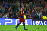 Neymar Jr of FC Barcelona celebrates after scoring his side's third goal during the UEFA Champions League Group E football match between FC Barcelona and Bate Borisov on November 4, 2015 at Camp Nou stadium in Barcelona, Spain. <br /> Photo Manuel Blondeau/AOP.Press/DPPI