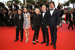 President of the Cinefondation and short films jury Clarie Denis, jury Members Stacy Martin and Catalin Mitulescu attend the screening of Oh Mercy! (Roubaix, une Lumiere) during the 72nd annual Cannes Film Festival on May 22, 2019 in Cannes, France. Photo by Shootpix/ABACAPRESS.COM