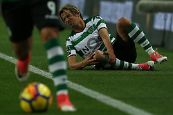 December 17, 2017 - Lisbon, Lisbon, Portugal - Sportings defender Fabio Coentrao from Portugal  during Premier League 2017/18 match between Sporting CP and Portimonense SC,.at Alvalade Stadium in Lisbon on December 17, 2017. (Credit Image: © Dpi/NurPhoto via ZUMA Press)