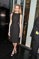 PHOEBE COLLINGS JAMES at W London - Leicester Square for the Liberatum Cultural Honour in Spice Market for John Hurt, CBE in association with artist Svetlana K-Lié on 10th April 2013.