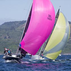 Clyde Cruising Club's Scottish Series 2019<br /> 24th-27th May, Tarbert, Loch Fyne, Scotland<br /> <br /> Day  1 - IRL1484, Harmony, John Swan, Howth Yacht Club, Half Tonner<br /> <br /> Credit: Marc Turner / CCC