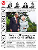 April 12, 2021 - UK: Front-page: Today's Newspapers In United Kingdom