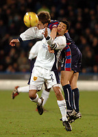 Picture: Henry Browne.<br />Date: 31/01/2004.<br />Crystal Palace v Wimbledon Nationwide Division One.<br /><br />Danny Granville of Palace gets stuck into Joel McAnuff of Dons.