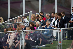 King Carl XVI Gustaf from Sweden, Queen Silvia Sommerlath from Sweden, De Vos Ingmar, BEL, De Vos Sabine, BEL<br /> FEI European Jumping Championships - Goteborg 2017 <br /> © Hippo Foto - Dirk Caremans