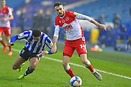 Liam Palmer, Scott Malone during the EFL Sky Bet Championship match between Sheffield Wednesday and Millwall at Hillsborough, Sheffield, England on 7 November 2020.