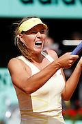 Roland Garros 2011. Paris, France. May 26th 2011..Russian player Maria SHARAPOVA against Caroline GARCIA
