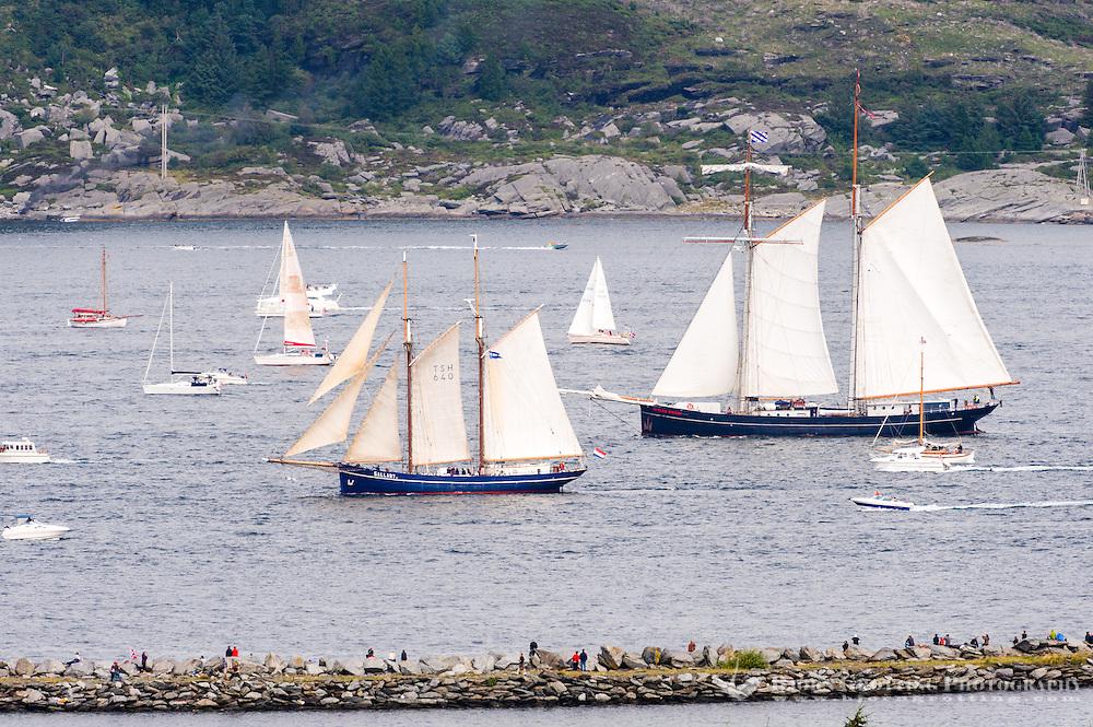 Norway, Randaberg. Tall Ships Race in Stavanger 2011. Goodbye, fare thee well! Wylde Swan.