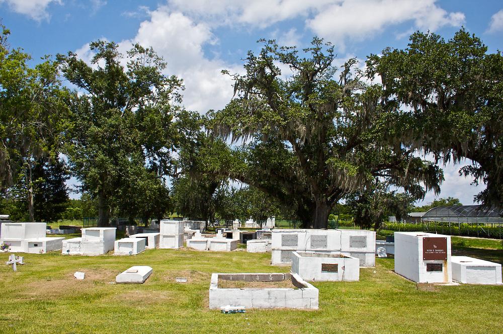 Cemetery, Myrtle Grove, Plaquemines Parish, Louisiana, USA