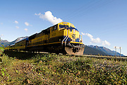 The Alaska Train passes through Girdwood as it heads north to Anchorage.
