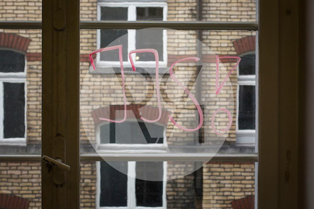 SCHWEIZ - ZÜRICH - Junge Journalisten Schweiz - hier Logo am Fenster - am 24. Januar 2014 © Raphael Huenerfauth - http://huenerfauth.ch