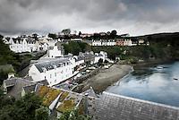 Colorful village of Portee on the Isle of Skye Scotland